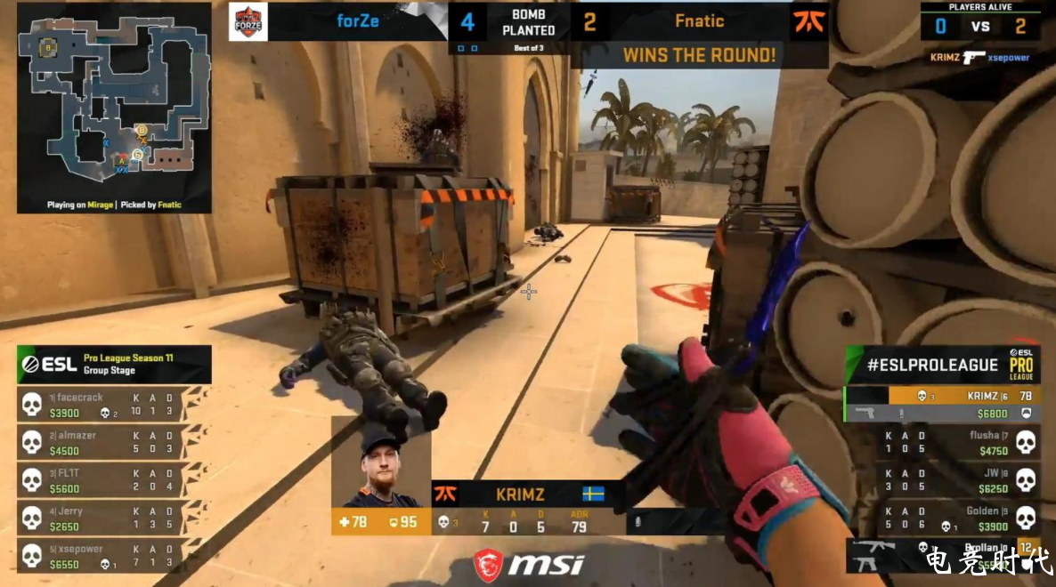 《CS:GO》EPL S11:fnatic 2-1击败forZe""